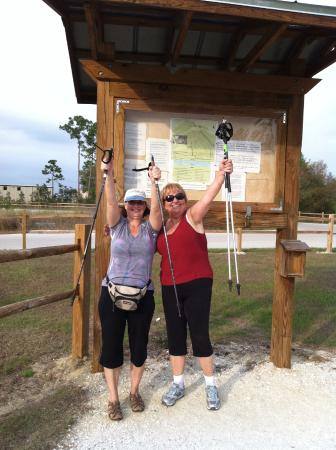 Prairie Pines Preserve: There is a trail map kiosk near the parking area...