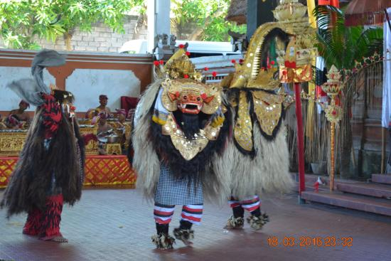 "Sukawati, Indonesia: Play performance of the ""Barong & Kris Dance""."
