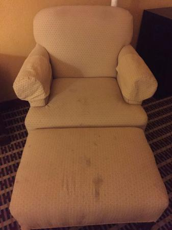 Centralia, IL: Stains on the chair