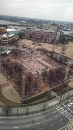 Centennial Olympic Park: View of park from the mart building in late winter