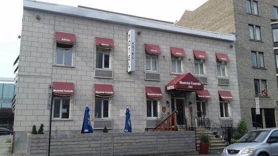 Samesun Montreal Central : Fachada do hotel Montreal Central