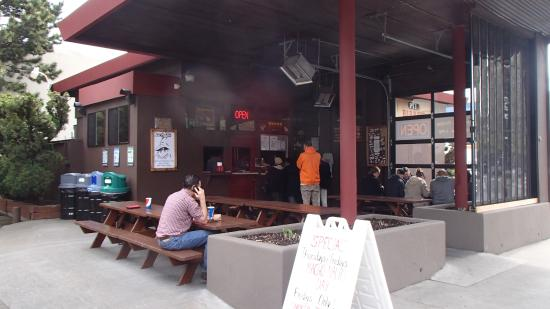 Pecos Pit Bbq View From 1st Ave Side Outside Dining Only Garage