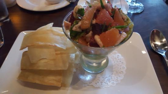 Absinthe Brasserie & Bar: Ceviche with yucca chips