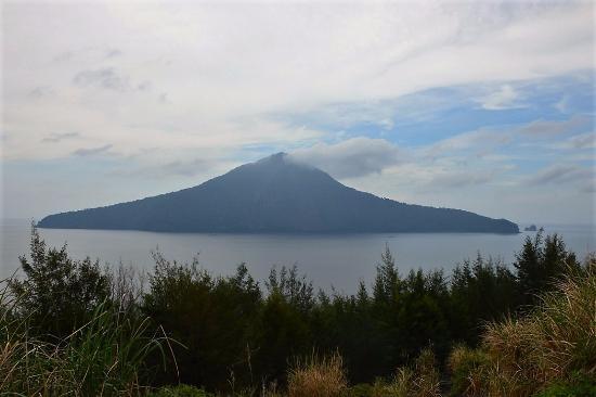Krakatau Volcano (Krakatoa): looking out from the volcano
