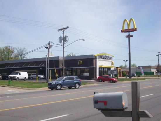 McDonald's Restaurant in Jackson, MO. (Drive-thru window on side).