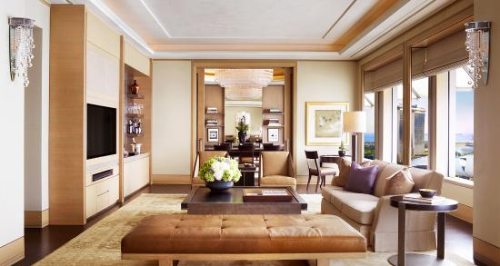 The Ritz Suite Wall Flushed Bar In Living Room Stocked