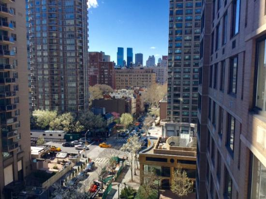 Gardens NYC–an Affinia hotel: The view from our terrace.