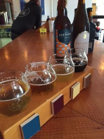 Delta, Canada: a little beer flight -- nothing disappointed!