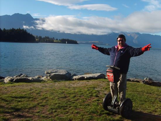 Segway on Q: A shot of Lake Wakatipu in the background.