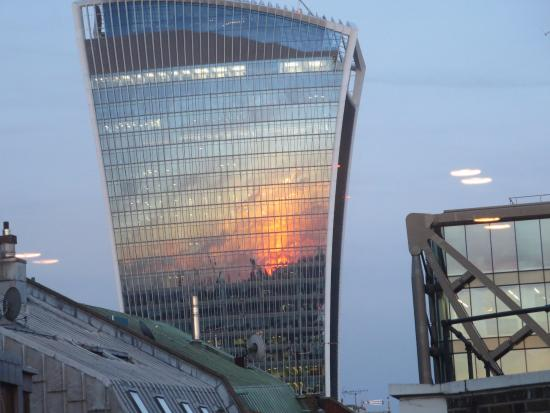 Looking east from 5th floor (room 79) to the \'walkie talkie\' at ...