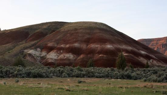 John Day Fossil Beds National Monument- Sheep Rock: Painted Hills Unit, along the road before the official monument.