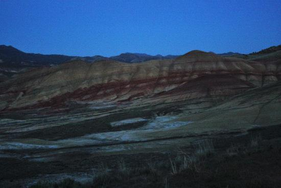 John Day Fossil Beds National Monument- Sheep Rock: A main viewing area at dusk.