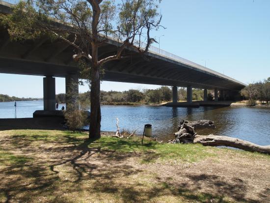 Ascot, Australia: Under the bridge