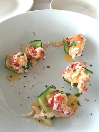 amuse bouche - Kona lobster & cucmber - Picture of Merriman\'s ...