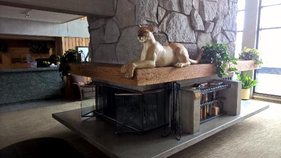 Lodge at Snowbird: Lobby is dominated by cougars
