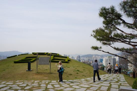 The Burial Archeolgical site outside of Bokcheon Museum
