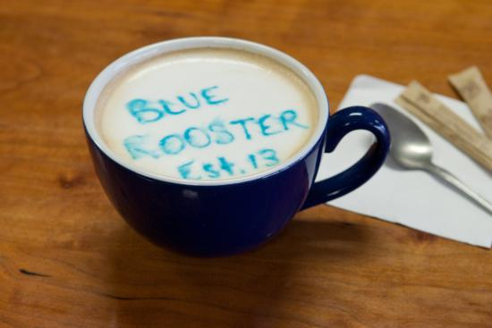 Blue Rooster Cafe: Best Coffee in the area.