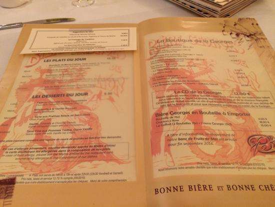 menu   Picture of Brasserie Georges, Lyon   TripAdvisor