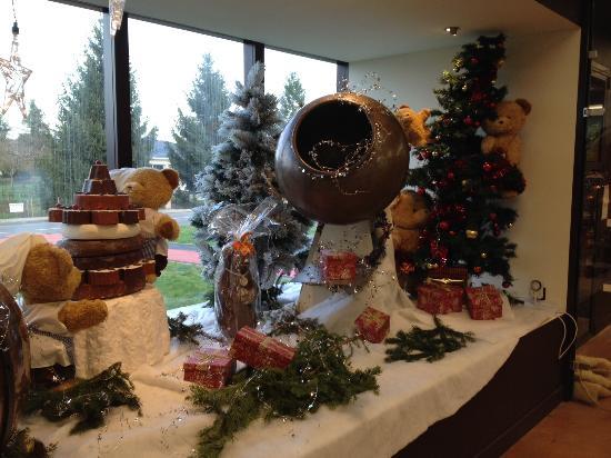 Musee du Chocolat Bovetti : Vitrine de Noël