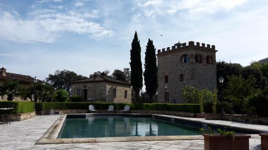 Castello delle Serre: Spazio esterno con piscina