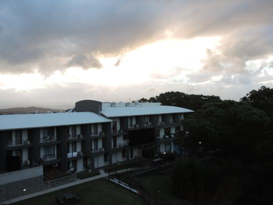 Charlestown, Australia: From Top Floor Apartment Across Resort and Outdoor Pool