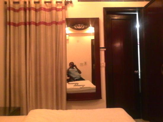 The Shipra International: Reviewer relaxing at room