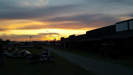 Unadilla, GA: Sunset over Angel City