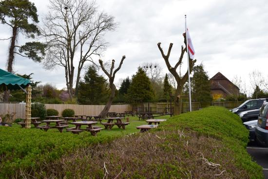 Coombe Bissett, UK: huge beer garden