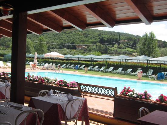 San Feliciano, Italië: Террасса ресторана у бассейна