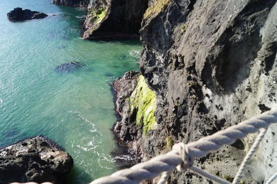 Ballycastle, UK: On the bridge at Carrick a rede