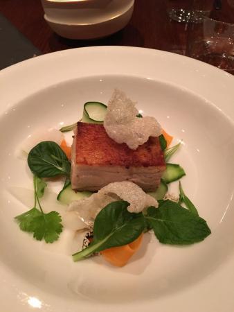 Marananga, Australia: Slow cooked pork belly