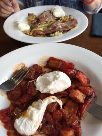 Cinnabar: Chorizo Hash and Bubble & Squeak
