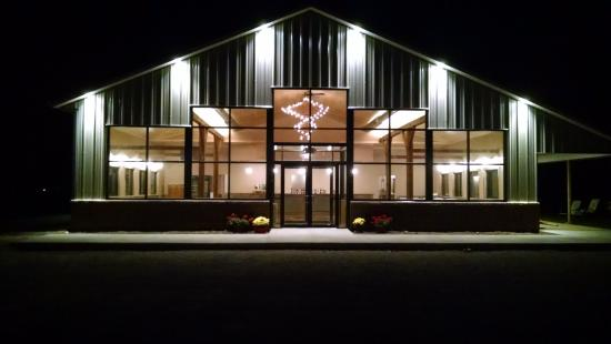 Waukon, IA: Empty Nest Winery's new building.