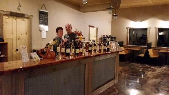 Waukon, Iowa: check out our tasting room with our reclaimed 100 year old barn beams inside!