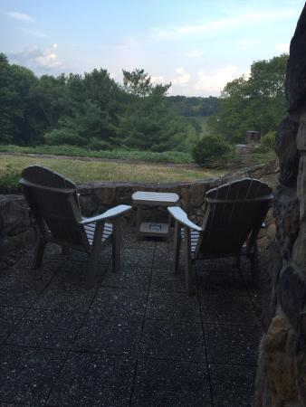 The Inn at Honey Run: Early morning view from on of the Honeycomb rooms.