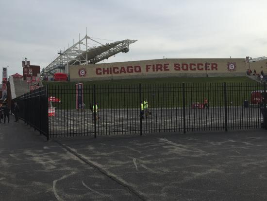 Bridgeview, IL: One of the entrances to the stadium