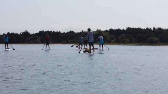 Beaufort Paddle: Paddling in the bay.