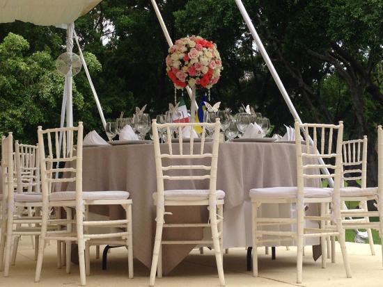 Fiesta Americana Hacienda San Antonio El Puente Cuernavaca: Свадебные столы