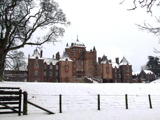 Lauder, UK: Thirlestane Castle in the snow