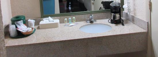 Quality Inn Orlando Airport: Bathroom amenities.