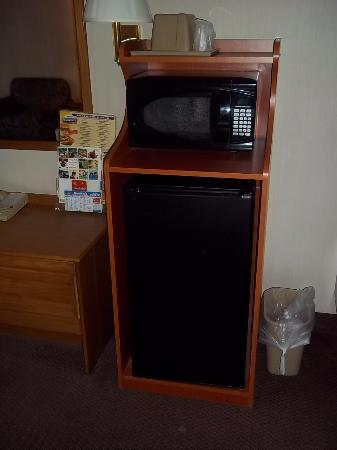 Stroudsburg, Пенсильвания: large mini fridge, microwave & coffee in spiffy hutch