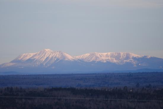 Weston, ME: Specetacular views of Mt. Kathadin