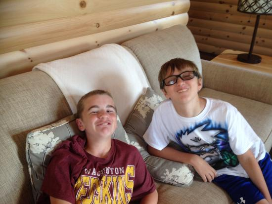 Berlin, OH: Beautiful furniture, silly boys!