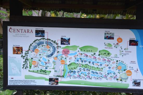 Resort map - Picture of Centara Koh Chang Tropicana Resort, Ko Chang ...