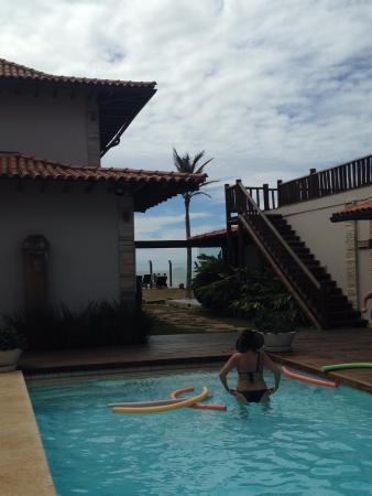 Villa Rasa Marina: Piscina interna (mais próxima da praia)