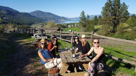 West Kelowna, Canada: Pack a picnic and enjoy the lake view from our winery!