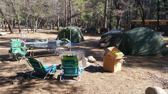 Upper Pines Campground: Camp Site #121 - Upper Pines Yosemite