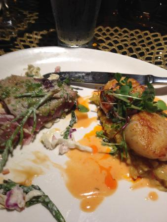RumFire : seared ahi tuna and spicy scallops