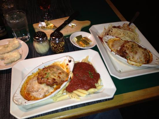 Rosa Flamingo's : Chicken Parm with Ziti and Spaghetti. Excellent food and service!
