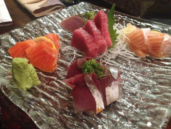 ซานแอนเซลโม, แคลิฟอร์เนีย: Sashimi on a platter